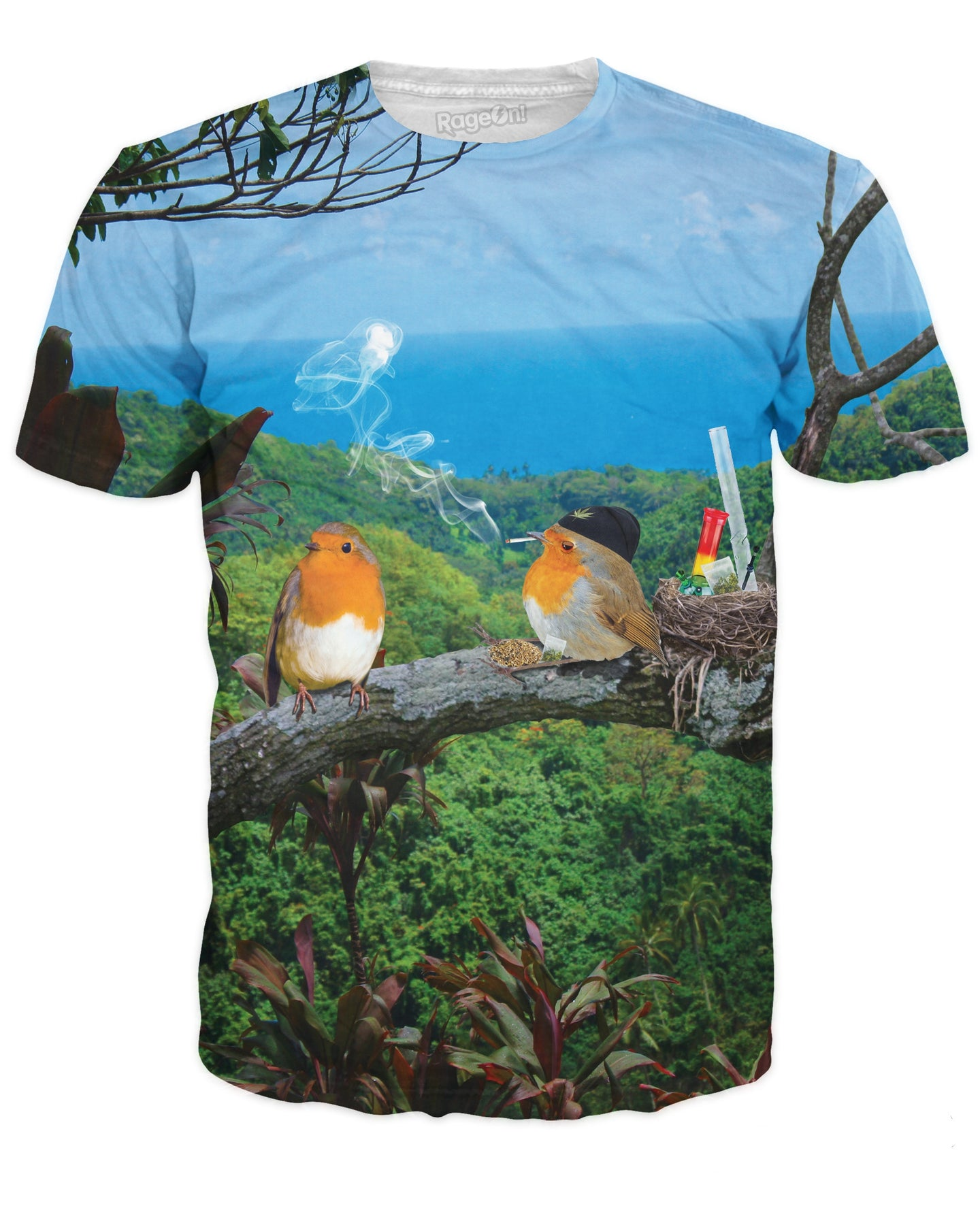 2 Birds, 1 Stoned T-Shirt - JAKKOUTTHEBXX - T-Shirts