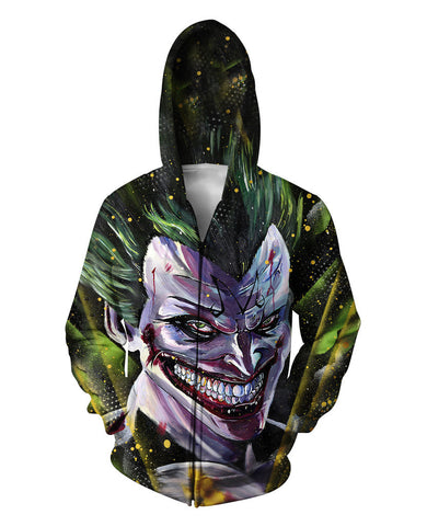 Joker Zip Up Hoodie - JAKKOUTTHEBXX - Women/Men's Joker 3D print Sweatshirts Hoodies Zipper outerwear S M L XL XXL 3XL 4XL 5XL
