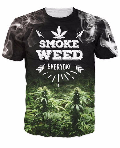 Smoke Weed Everyday T-Shirt All Over Print T Shirt Tee JAKKOUTTHEBXX JAKKOU††HEBXX - JAKKOUTTHEBXX