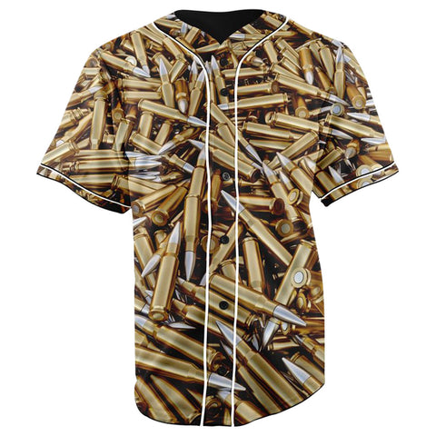Bullets Button Up Baseball Jersey