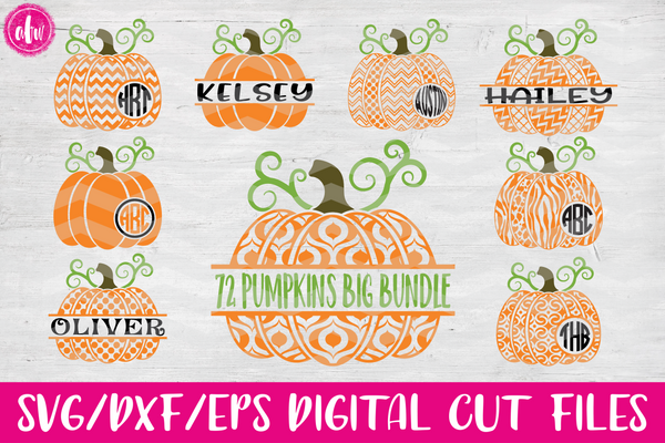 Pattern Pumpkin Bundle (72) - SVG, DXF, EPS