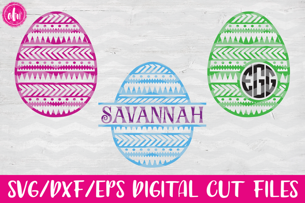 Aztec Easter Eggs - SVG, DXF, EPS