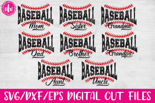 Baseball Family - SVG, DXF, EPS