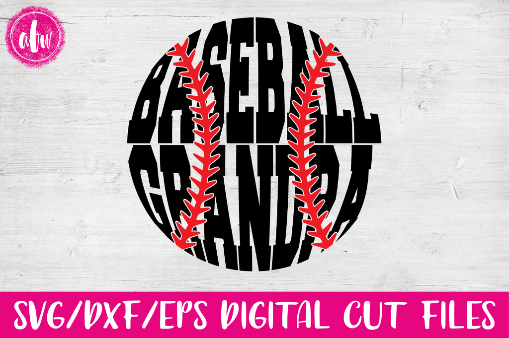 Baseball Grandpa - SVG, DXF, EPS