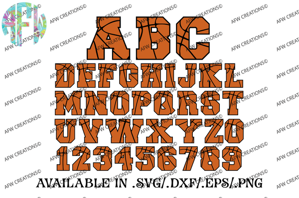 Sports Letters & Numbers Bundle - SVG, DXF, EPS