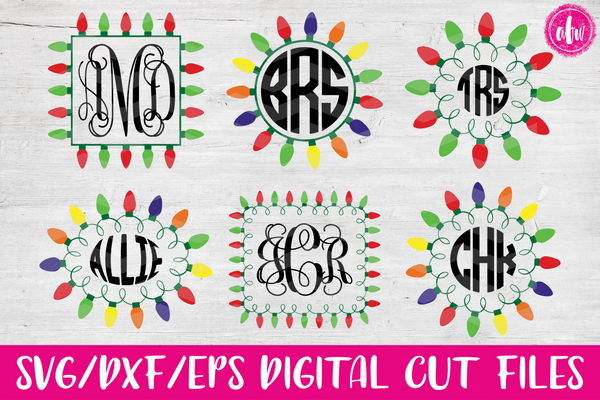 Christmas Lights Bundle - SVG, DXF, EPS