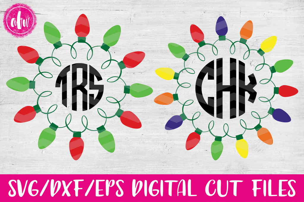 Christmas Lights Set 1 - SVG, DXF, EPS
