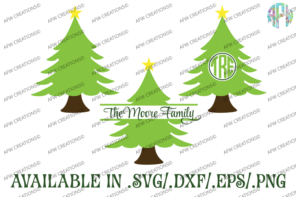 Christmas Tree - SVG, DXF, EPS