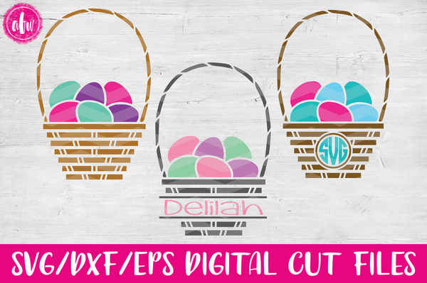 Easter Egg Basket - SVG, DXF, EPS