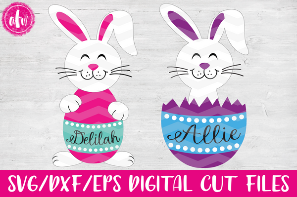 Easter Bunny Egg Duo - SVG, DXF, EPS