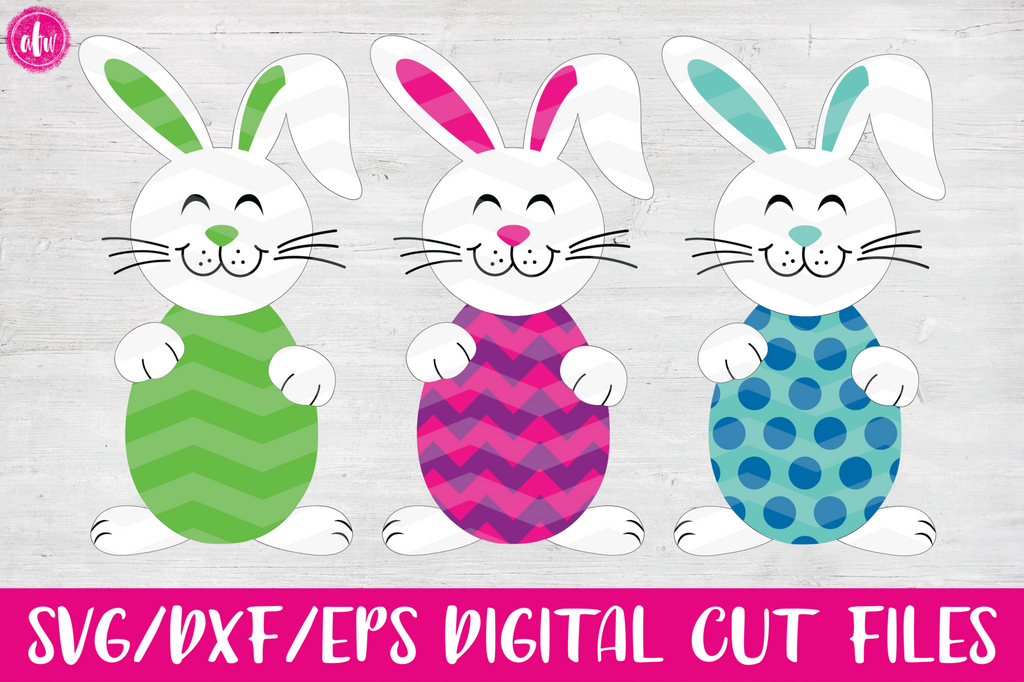 Easter Bunny Eggs- SVG, DXF, EPS