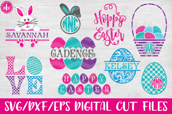 Easter Bundle - SVG, DXF, EPS