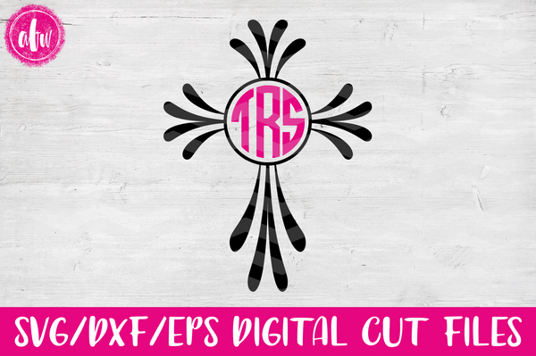 Monogram Cross - SVG, DXF, EPS