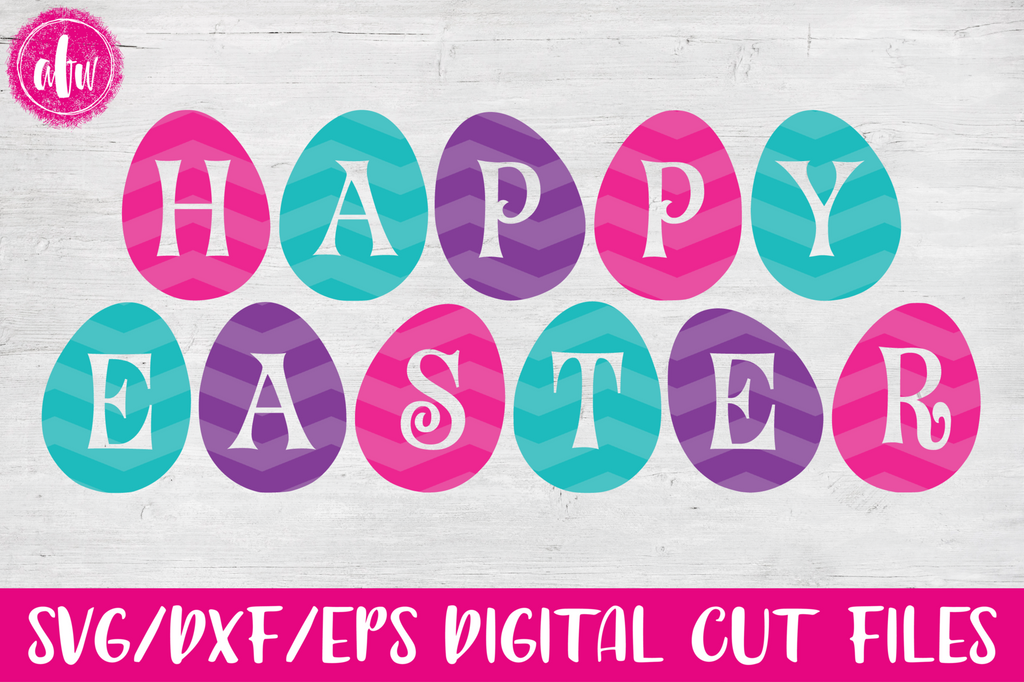 Happy Easter Eggs - SVG, DXF, EPS