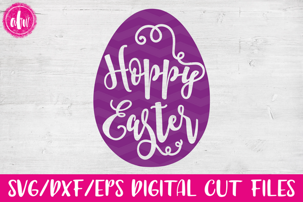 Hoppy Easter Egg - SVG, DXF, EPS