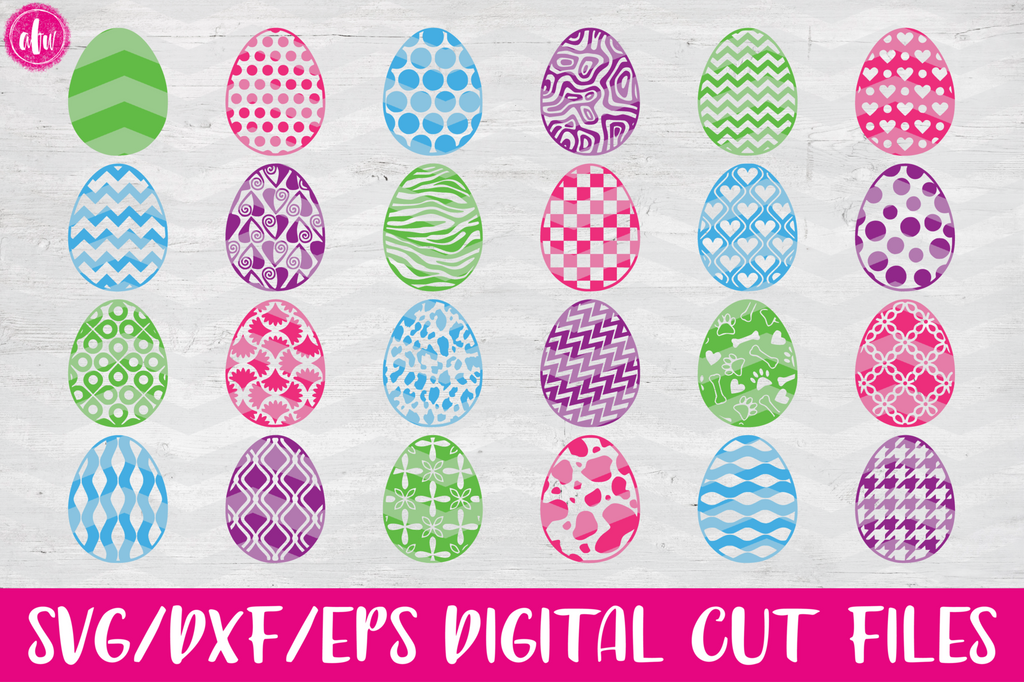 Patterned Eggs Bundle (40) - SVG, DXF, EPS