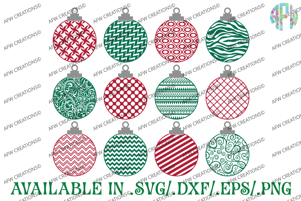 Pattern Christmas Ornament - SVG, DXF, EPS