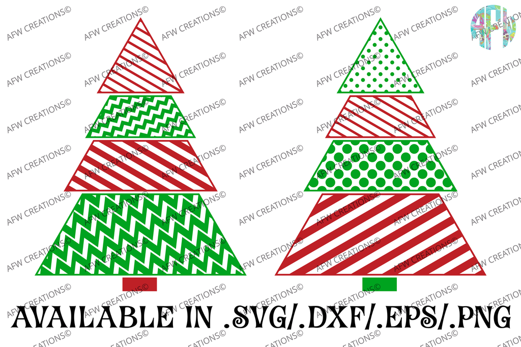 Pattern Christmas Tree - SVG, DXF, EPS
