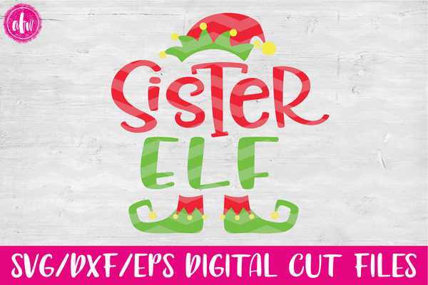 Sister Elf - SVG, DXF, EPS