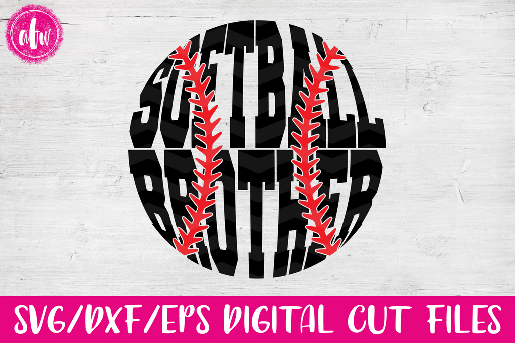 Softball Brother - SVG, DXF, EPS