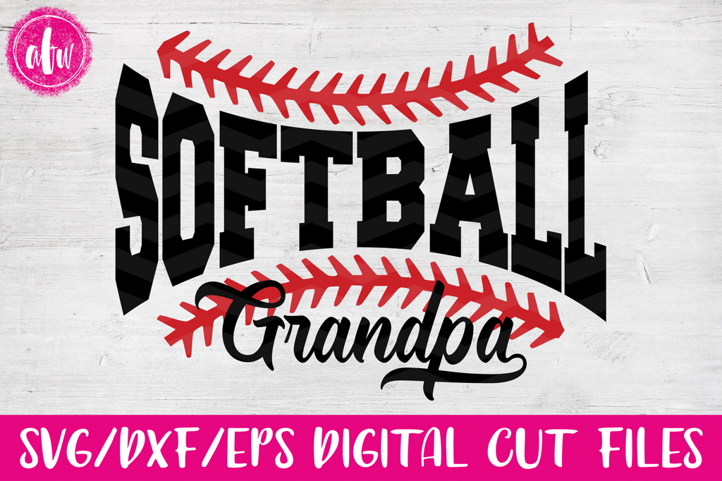 Softball Grandpa - SVG, DXF, EPS