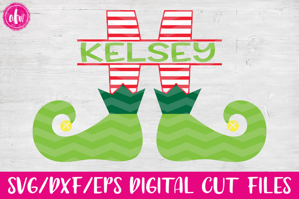 Striped Split Elf Legs - SVG, DXF, EPS