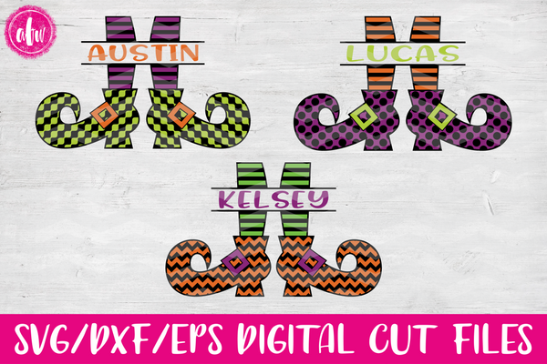 Split Witch Legs Bundle - SVG, DXF, EPS