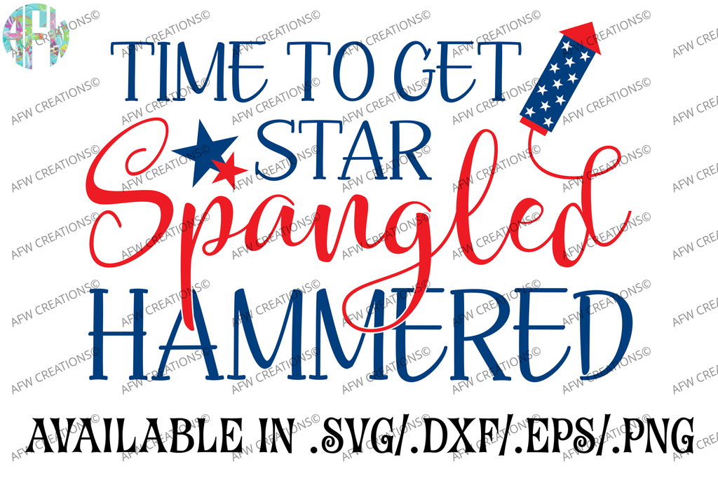 Star Spangled Hammered - SVG, DXF, EPS