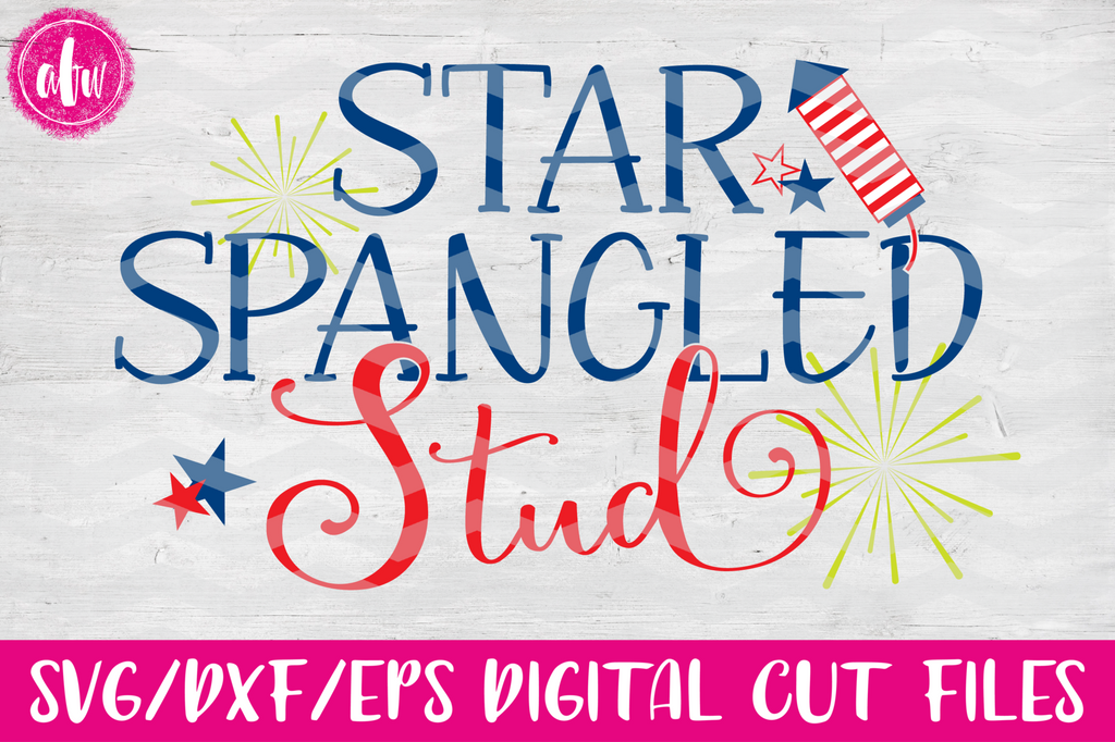 Star Spangled Stud - SVG, DXF, EPS