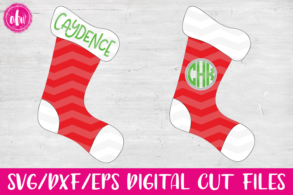 Christmas Stocking - SVG, DXF, EPS