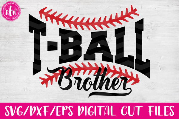 T-Ball Brother - SVG, DXF, EPS