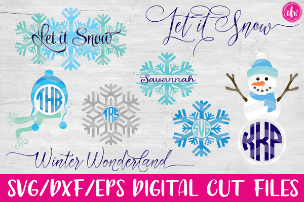 Winter Set - SVG, DXF, EPS