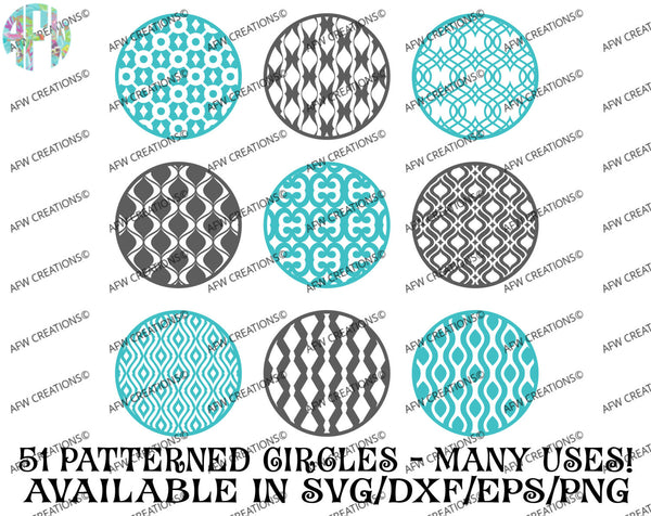 Pattern Circles Ultimate Bundle (51) - SVG, DXF, EPS