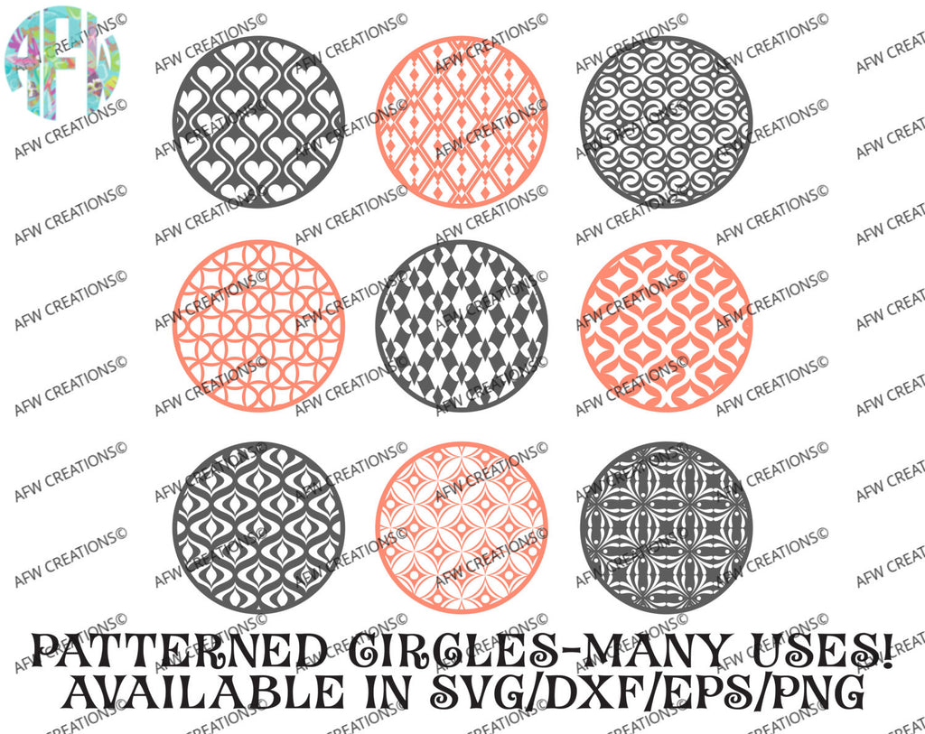 Pattern Circles Bundle #2 - SVG, DXF, EPS