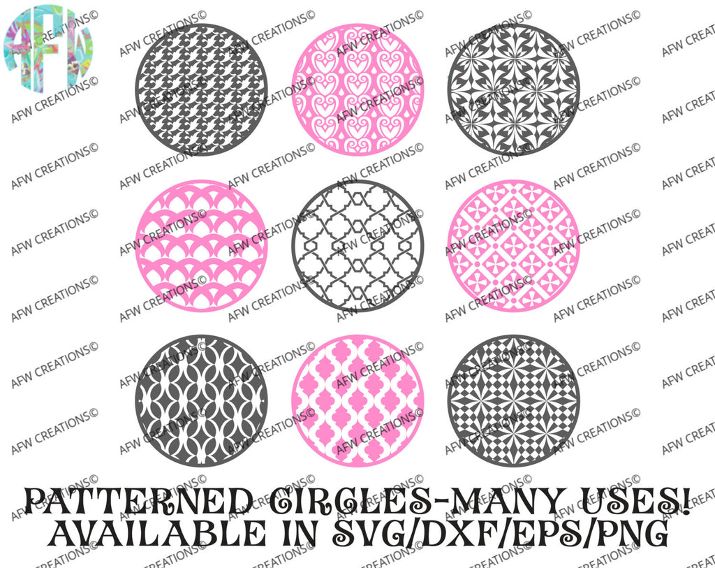 Pattern Circles Bundle #3 - SVG, DXF, EPS