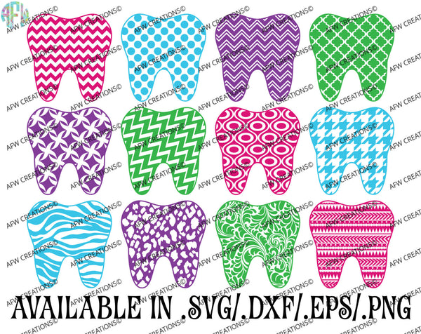 Pattern Tooth - SVG, DXF, EPS