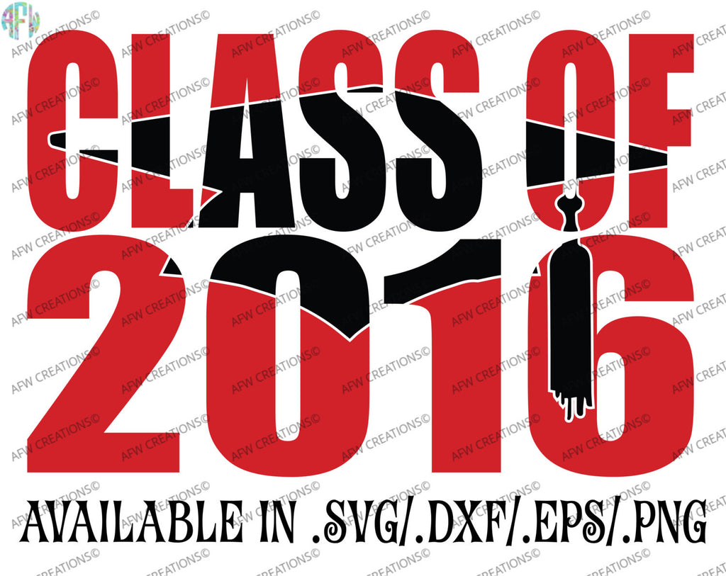 Graduation Class of 2016 #2 - SVG, DXF, EPS