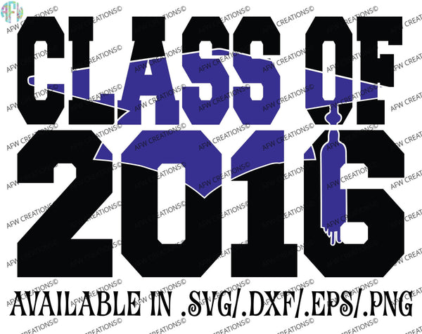 Graduation Class of 2016 #1 - SVG, DXF, EPS