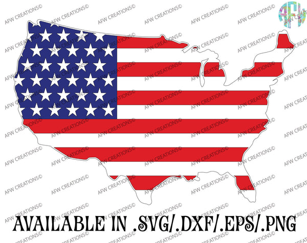 Patriotic USA - SVG, DXF, EPS