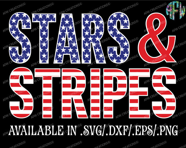 Stars & Stripes USA - SVG, DXF, EPS