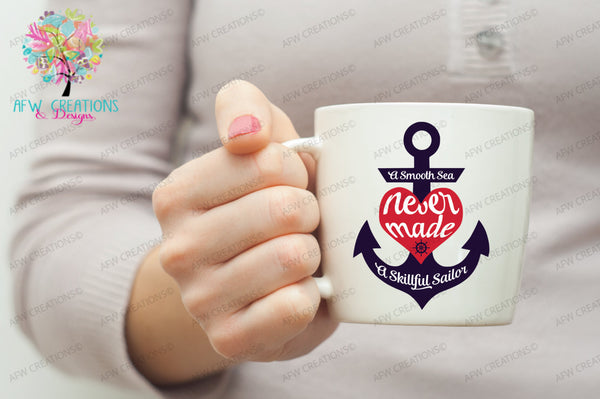 Smooth Sea Skillful Sailor - SVG, DXF, EPS
