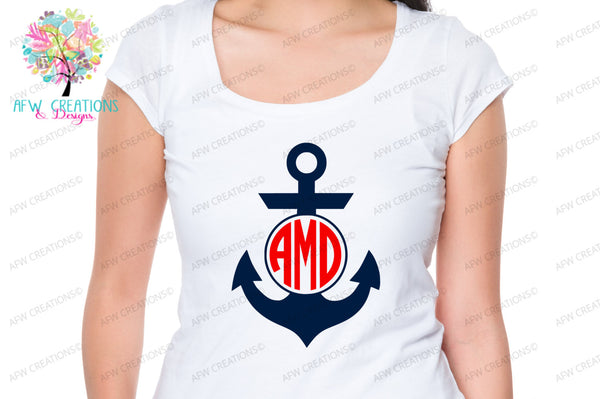 Monogram Anchors Bundle (18) - SVG, DXF, EPS
