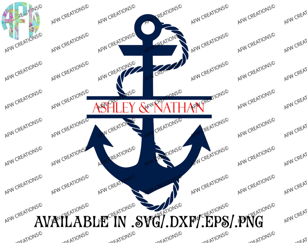 Split Anchor - SVG, DXF, EPS
