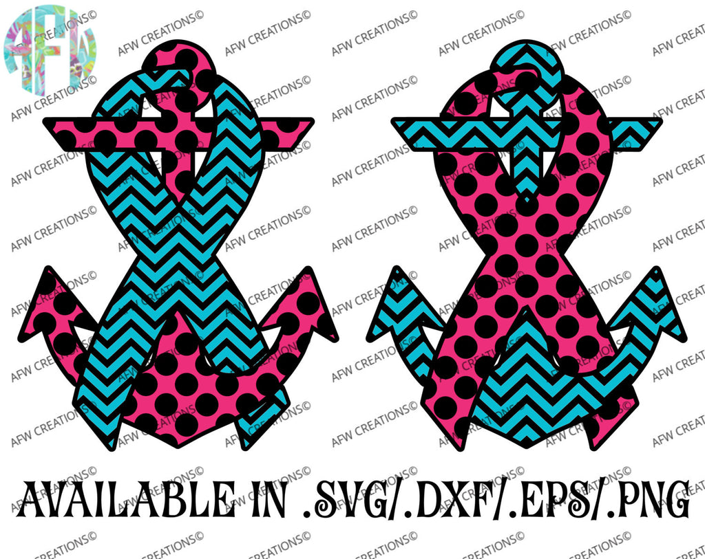 Awareness Anchor - SVG, DXF, EPS