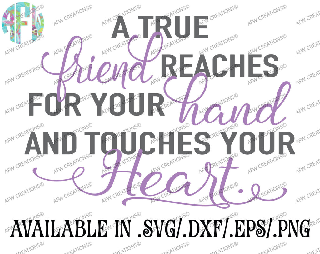True Friend - SVG, DXF, EPS