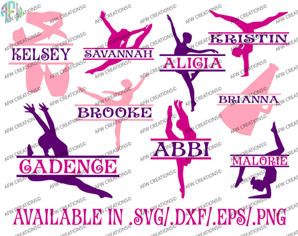 Split Dance Designs - SVG, DXF, EPS