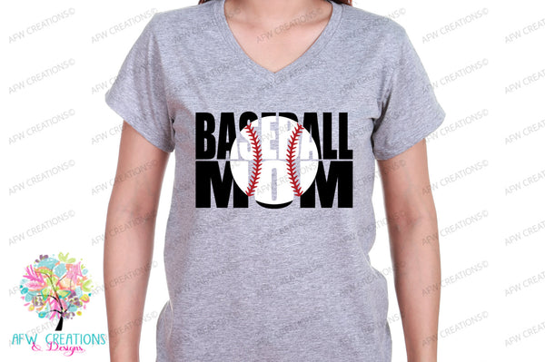 Baseball Mom #1 - SVG, DXF, EPS