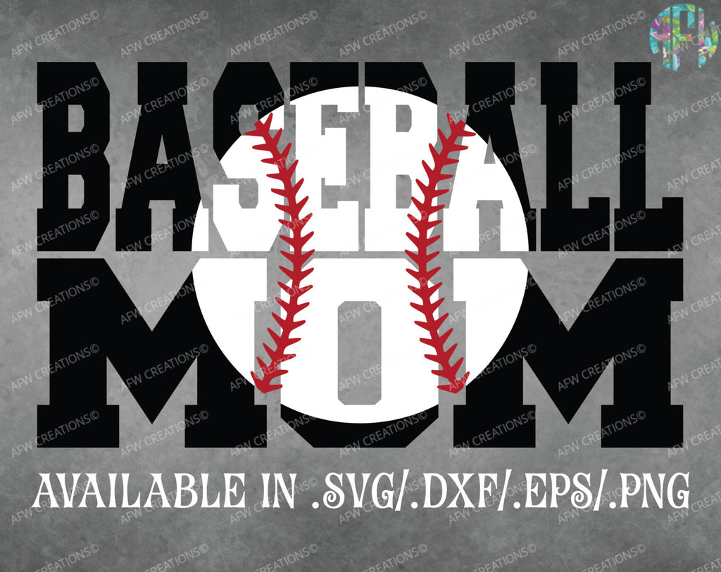 Baseball Mom #2 - SVG, DXF, EPS