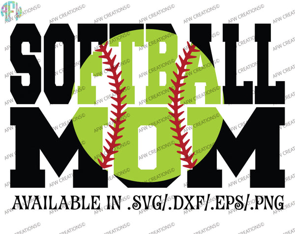 Softball Mom #2 - SVG, DXF, EPS