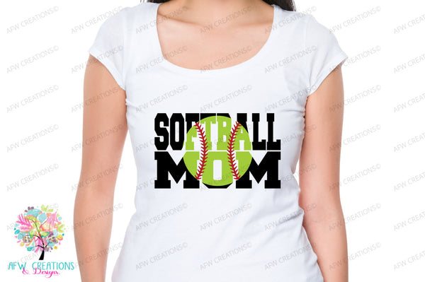 Softball Mom Bundle - SVG, DXF, EPS